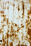 Texture of corrugated metal plate,horizontal Stock Images