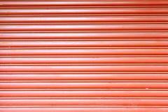Texture corrugated metal sheet,Slide door ,steel door Royalty Free Stock Images