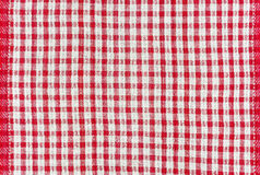 Texture of cotton fabric with a pattern in a red box Stock Image