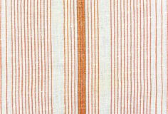 Texture of cotton fabric with red stripes Royalty Free Stock Image