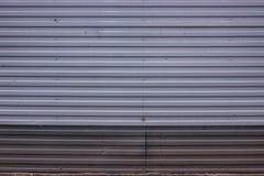 Texture coulissante en métal Photographie stock libre de droits