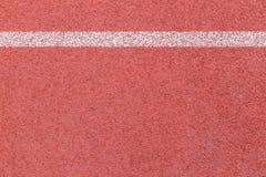 Texture courante de voie en caoutchouc avec la ligne blanche Photo libre de droits