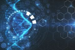Texture créative d'ADN Photos libres de droits
