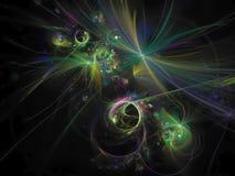 Texture créative de future de présentation de mouvement de papier peint de carte de fractale d'abstraction de chaos d'effet énerg illustration de vecteur