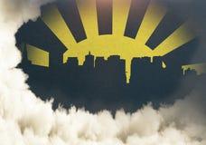 Texture créative de ville Image libre de droits