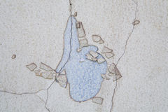 Texture of crack and abrasion on the wall Royalty Free Stock Photo
