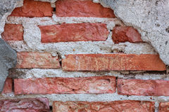 Texture crack brick wall background. Stock Image