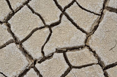 Texture cracked, dry the surface of the earth. Earth  turned into a desert. Global warming, drought Stock Images