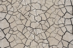 Texture Cracked, Dry The Surface Of The Earth. Royalty Free Stock Photos