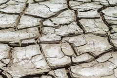Texture of cracked earth, cataclysm of drought stock image