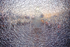 Texture  cracked fractured glass. Texture pattern cracked fractured glass Royalty Free Stock Photography
