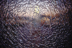 Texture cracked fractured glass. Pattern texture cracked fractured glass Royalty Free Stock Photo