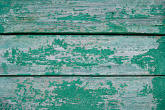 Texture of cracked green paint Royalty Free Stock Photography
