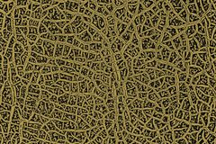 Texture of a cracked melon crust for the background in yellow- black tones Stock Photo