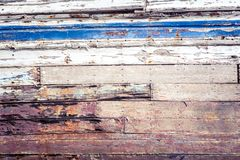 Texture of cracked rough wood surface painted. Texture of cracked old rough wood surface painted Royalty Free Stock Images
