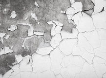 Texture of cracked paint on concrete wall Stock Photography