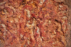 Texture of cracked red clay walls Royalty Free Stock Photography