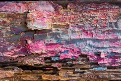 Texture of cracked rough wood surface painted. Texture of cracked old rough wood surface painted Royalty Free Stock Photos