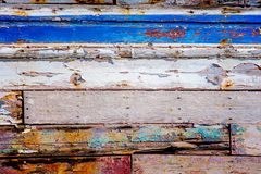 Texture of cracked rough wood surface painted. Texture of cracked old rough wood surface painted Royalty Free Stock Photo