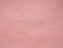 Texture of cracked wall pink Stock Image
