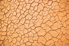 Texture of the crackled red clay Royalty Free Stock Photos