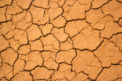 Texture of the crackled red clay Royalty Free Stock Photography