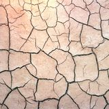 Cracked Earth. Texture of the crackled white clay in the desert Royalty Free Stock Photo