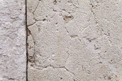 Texture Of Cracks In An Ancient Stone Wall Royalty Free Stock Photography