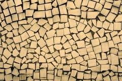 Texture of cream asymmetric tiles Royalty Free Stock Image