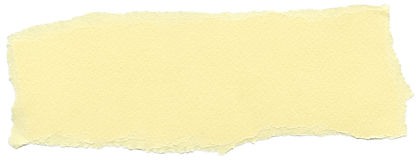 Isolated Fiber Paper Texture - Yellow Cream XXXXL. Texture of cream yellow fiber paper with torn edges. Isolated on white background Royalty Free Stock Photography