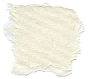 Isolated Rice Paper Texture - Cream White XXXXL. Texture of creamy white rice paper with torn edges. Isolated on white background Royalty Free Stock Images
