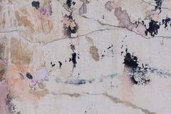Texture criquée de plâtre Photos stock