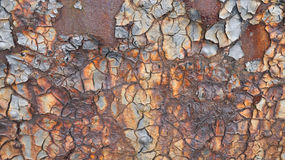 Texture criquée de rouille Photos stock