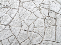 Texture criquée sèche de boue Image stock