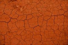 Texture criquée sèche de la terre Images stock