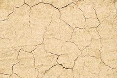 Texture criquée sèche de terre Image stock