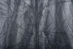 The texture of crumpled black leather Royalty Free Stock Image
