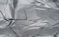 Texture of crumpled black paper Stock Images