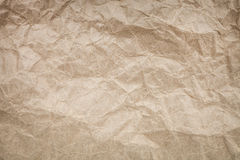 Texture of crumpled brown paper. Texture, background, scrub-booking with mint brown paper Royalty Free Stock Photos