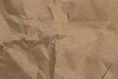Texture Crumpled Brown Paper bag Royalty Free Stock Photography