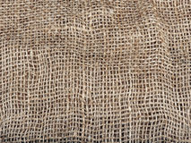 Texture of crumpled canvas Royalty Free Stock Photography