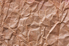 Texture of crumpled craft paper Stock Photos