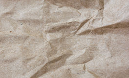 Texture of crumpled craft paper. Rectangular background. Texture of crumpled craft paper. Horizontal rectangular background Stock Photography