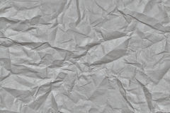 The texture of crumpled gray paper Stock Images