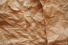 Texture of crumpled kraft paper for background.  Stock Photo