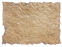Texture of crumpled old paper isolated Royalty Free Stock Image