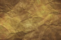 Texture of crumpled old paper. Yellow, textured stock photos