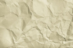 The texture of crumpled paper for background. Toned Royalty Free Stock Image