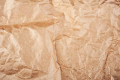 Texture of crumpled paper. Texture of crumpled craft paper Stock Photography