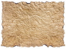 Texture of crumpled paper isolated on white Stock Image